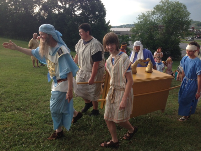 """""""Aaron the High Priest"""" and """"Levites"""" carry """"the ark of the Covenant"""" at VBS"""